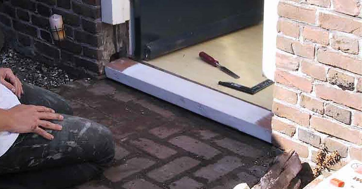 verrot kozijn repareren - deelvervanging van deurkozijn